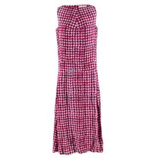 Tory Burch Tie-dye Silk Tea-length Dress