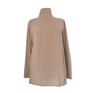 MaxMara camel cashmere blend high neck jumper