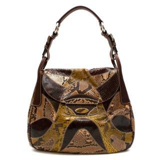 Prada Python Patchwork Shoulder Bag