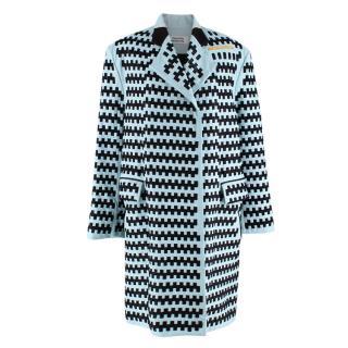 Martina Spetlova Blue Woven Leather Coat