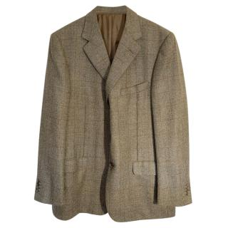 Loewe Checked Tailored Single Breasted Jacket