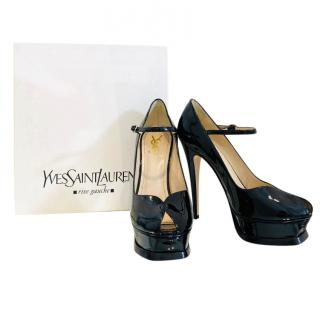 Yves Saint Laurent Patent Leather Tribute Mary-Janes