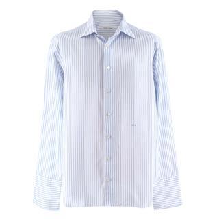 Donato Liguori Light Blue Striped Bespoke Shirt
