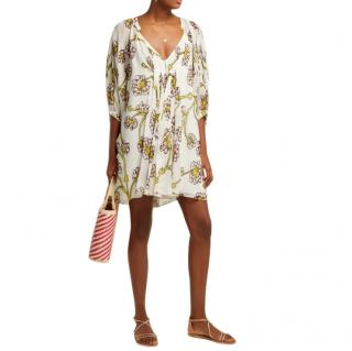 Diane Von Furstenberg Fleurette Dragon Berry Kaftan Dress