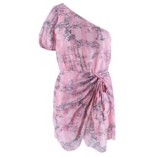 LoveShackFancy Pink Forest Print Peyton Dress