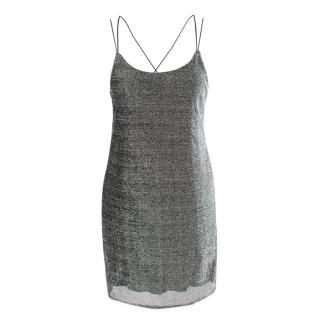 Rat & Boa Silver Metallic Mini Slip Dress