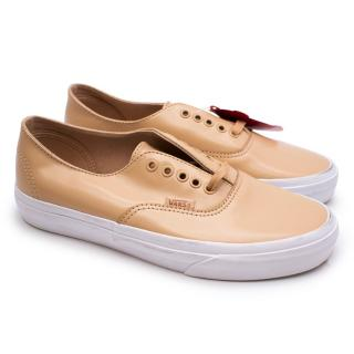 Vans Beige Smooth Leather Trainers  4.5 UK