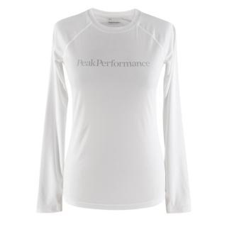 Peak Performance White Long Sleeve Gym Top