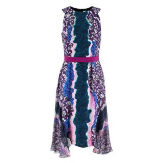 Peter Pilotto Purple Multi-Print Sleeveless Dress