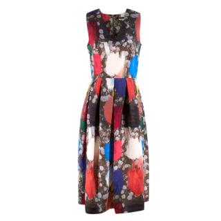 Christopher Kane Resort Floral Painted Midi Dress