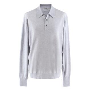 John Smedley Wool Long Sleeve Polo