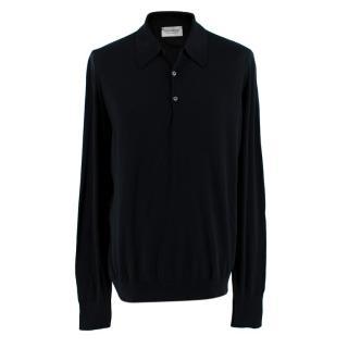 John Smedley Men's Long Sleeve Polo Shirt