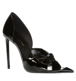Saint Laurent Black Patent Edwige Stiletto Pumps