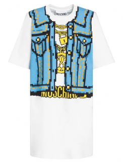 Moschino Couture & Simms Pixel Printed T-Sh