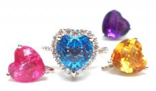 Wiliam & Son interchangeable diamond and gemstone ring