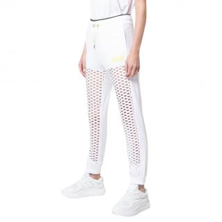 Sophia Webster x PUMA White Stretch Mesh Joggers