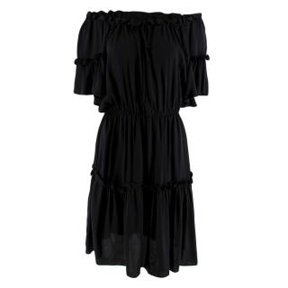 Milly Black off The Shoulder Mini Dress
