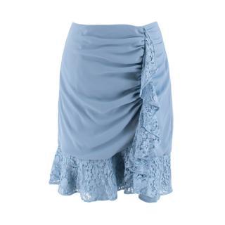 Keepsake Blue Lace Mini Skirt
