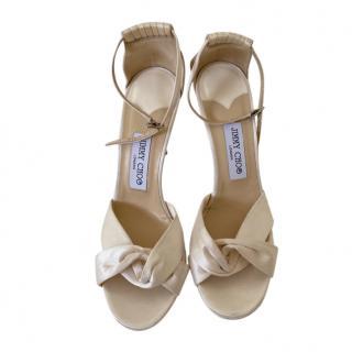 Jimmy Choo Ivory Satin Sandals