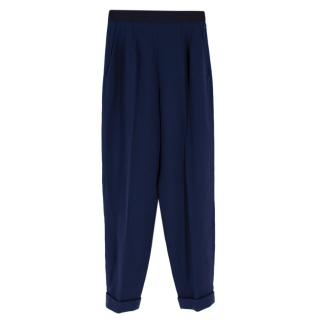 Delpozo Tailored Navy Blue Trousers
