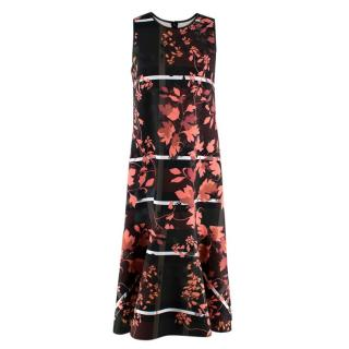 Clover Canyon Floral Straight Cut Sleeveless Dress