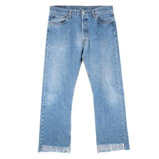 Levi's Vintage 501 Asymmetric Hem Jeans