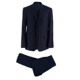 Ralph Lauren Purple Label Navy Blue Hand Tailored Suit