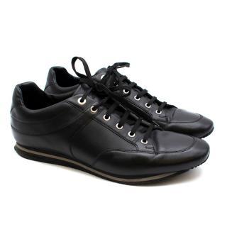Zegna Sport Men's Black Leather Trainers