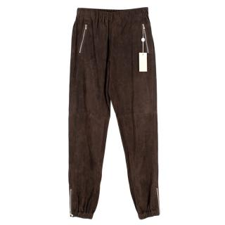 Michael Kors Brown Suede Joggers
