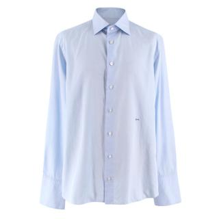 Donato Liguori Light Blue Bespoke Tailored Shirt