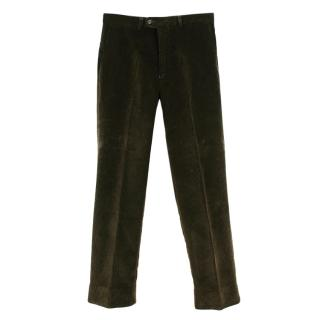 Farlows Dark Olive Cordorouy Trousers