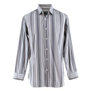 Ferragamo Striped Grey Shirt