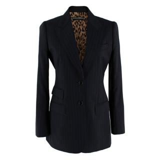 Dolce & Gabbana Black Pinstripe Blazer