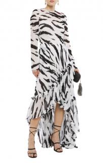 Philosophy di Lorenzo Serafini black and white zebra maxi dress