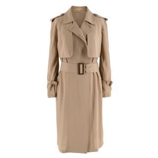 Michael Kors Tan Trench Duster Coat