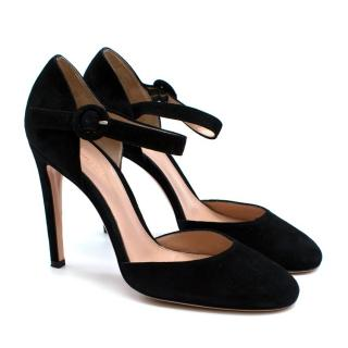Gianvito Rossi Black Suede Pumps 37