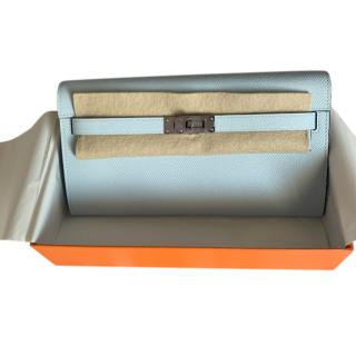 Hermes 2020 Colour Bleu Brume Kelly Long Wallet PHW