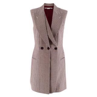Stella McCartney Sleeveless houndstooth Belted Jacket