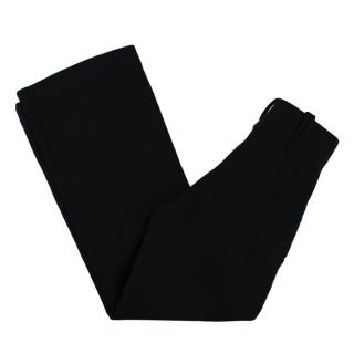 Chloe Black High Waisted Virgin Wool Trousers