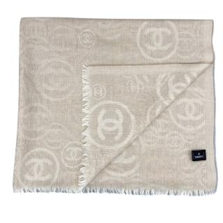 Chanel beige cashmere stole/scarf