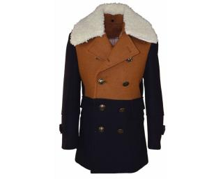 Isaac Mizrahi blue/brown boys coat 10yrs