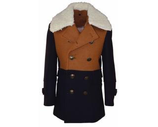 Isaac Mizrahi blue/brown boys coat 10yrs