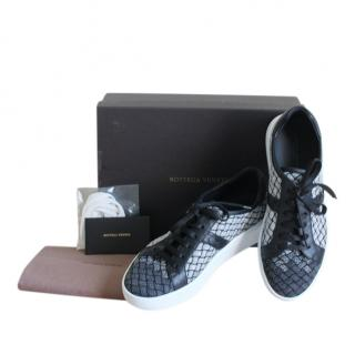 Bottega Veneta fabric/leather trim sneakers