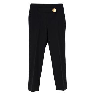 Balenciaga Black Single Button Detail Trousers