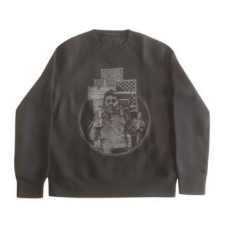 Louis Vuitton men's black crew neck cashmere blend sweater