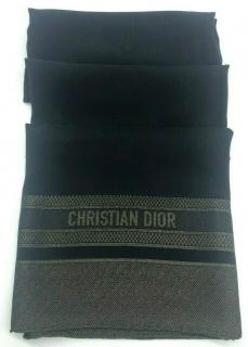 Dior 76x28 inch boxed black and bronze scarf