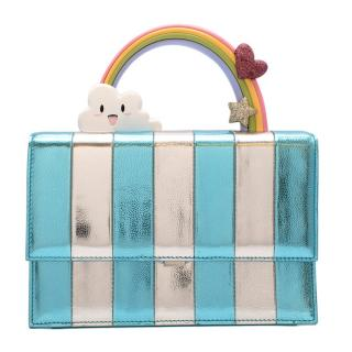 Ming Ray Blue and Silver Joy Rainbow Bag
