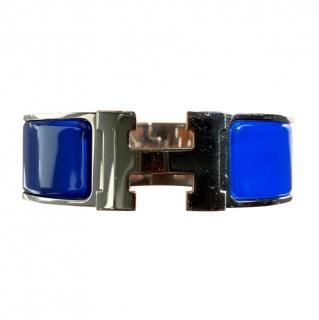 Hermes royal blue enamel clic clac bangle