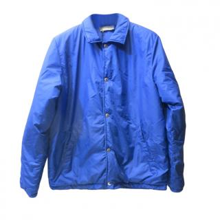 Maison Kitsune men's blue pop front jacket