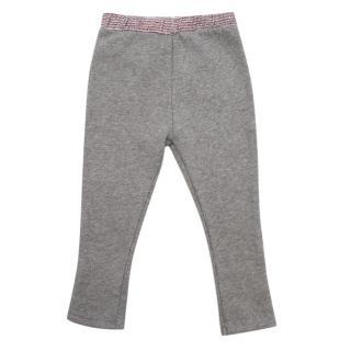 Bonpoint Grey Contrast Sweatpants